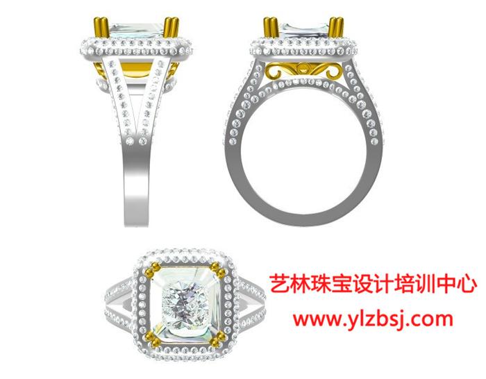 珠宝电绘设计-戒指